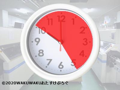 夜勤時間帯の時計