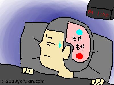 昼に眠るイラスト