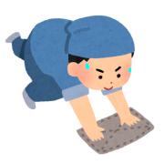 掃除をする男性のイラスト